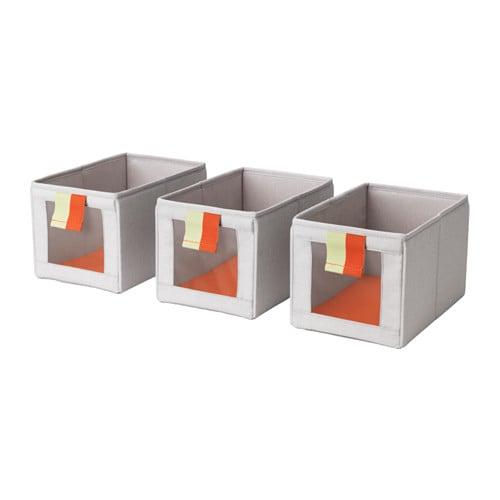 Släkting Box in Gray and Orange