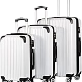 Coolife Luggage Expandable 3-Piece Luggage Set
