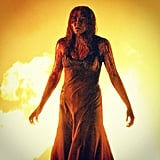 Chloe Moretz filmed a very intense scene for the Carrie remake. Source: Instagram user cmoretz