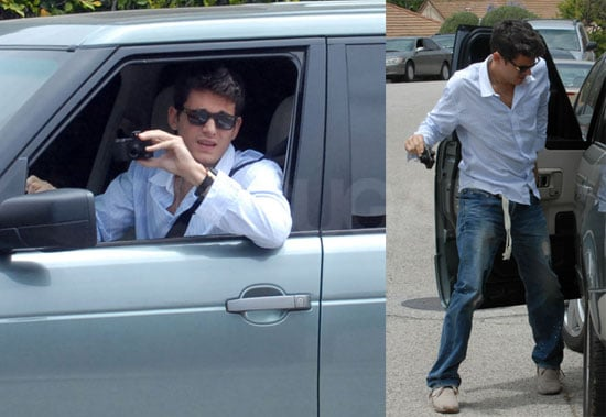 Photos of John Mayer Driving Jennifer Aniston's Car in LA