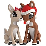 Hallmark Keepsake Christmas 2019 Year Dated Red-Nosed Reindeer Rudolph and Clarice Ornament