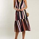 Apiece Apart Daphne Striped Linen and Silk-Blend Dress