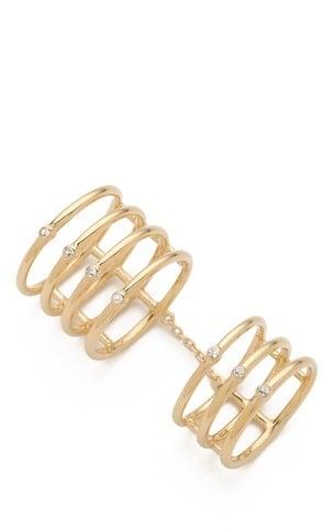 Elizabeth and James Berlin Topaz Knuckle Ring ($195)