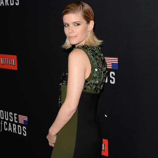 Kate Mara Green Prada Dress at House of Cards Premiere