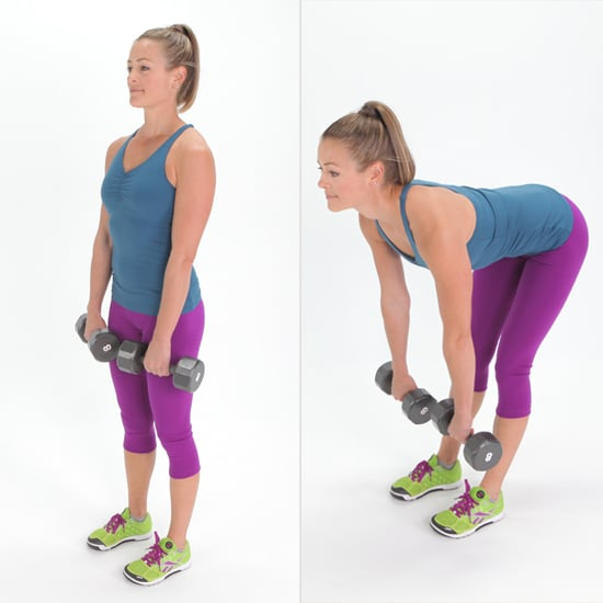 Work Your Bum and Legs While Lifting Dumbbells