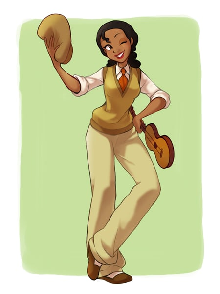 Tiana in Prince Naveen's Clothing