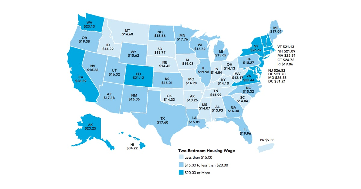 The Minumum Hourly Wage Needed to Afford a 2-Bedroom ...