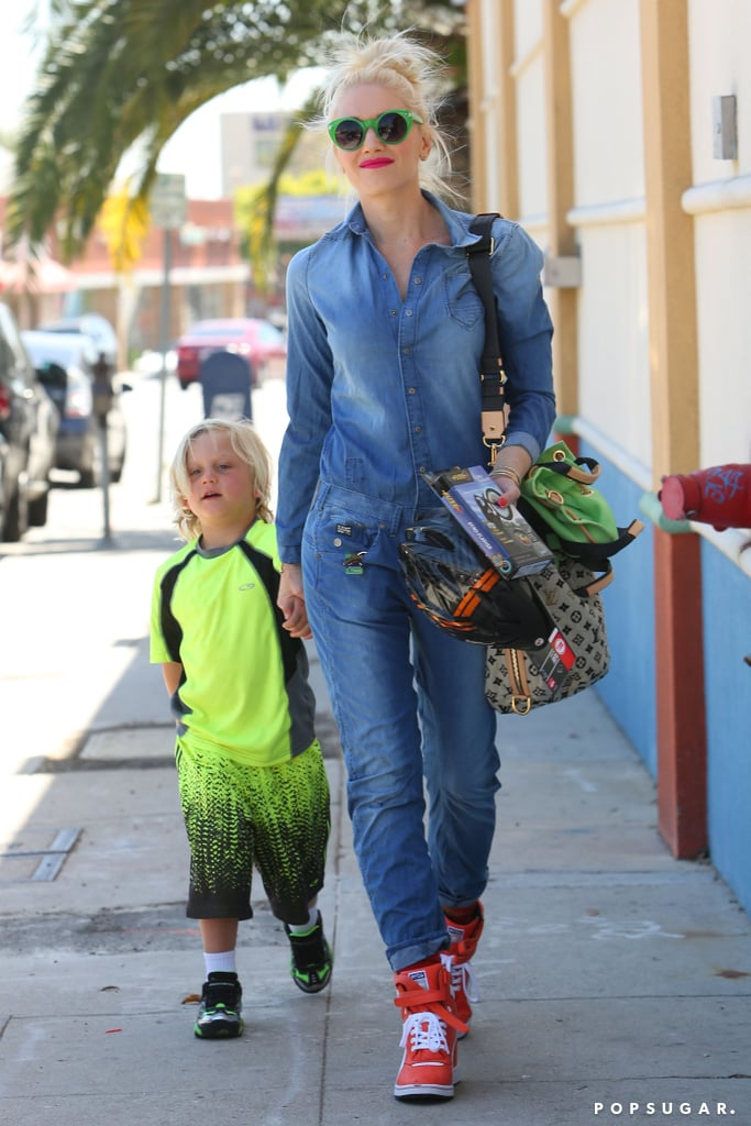 Gwen Stefani and Zuma Rossdale made a stylish strut through LA on Saturday.