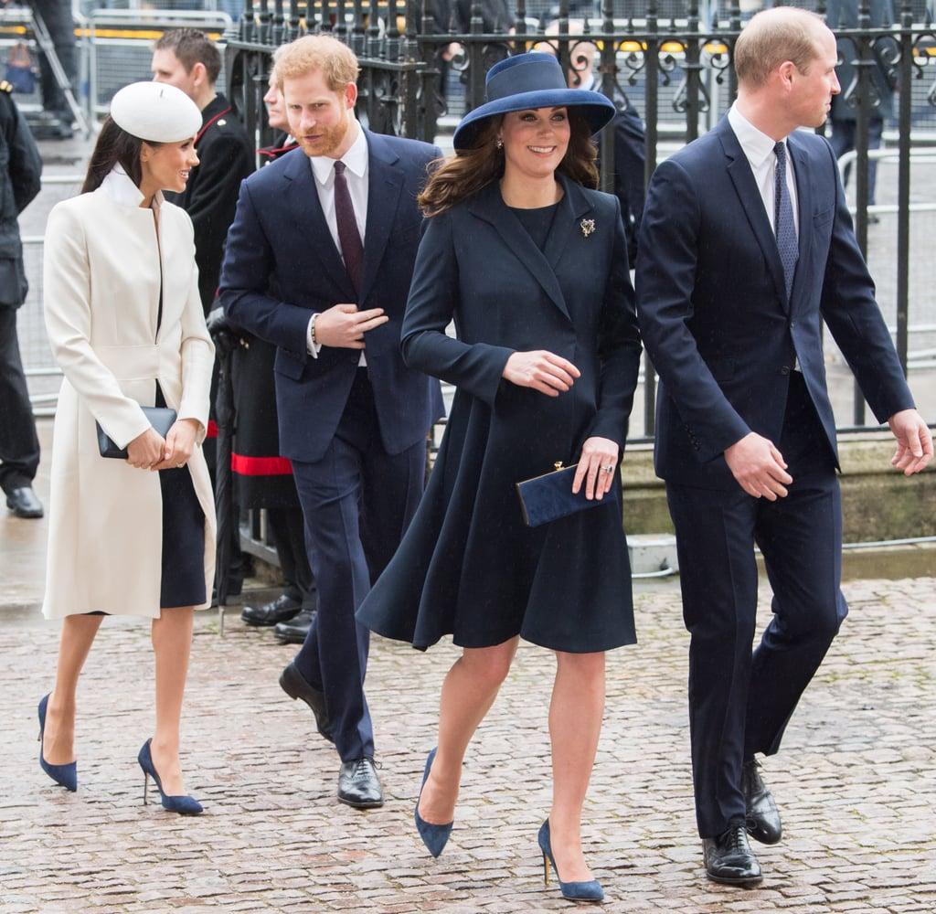 British Royals Wearing Navy Blue Pumps