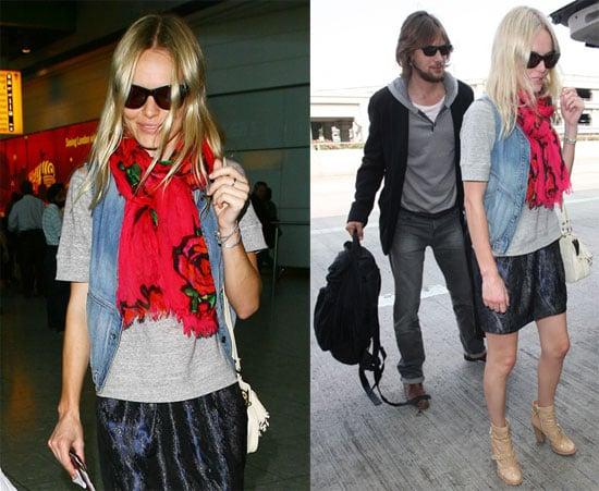 Photos of Kate Bosworth and James Rousseau at London's Heathrow Airport