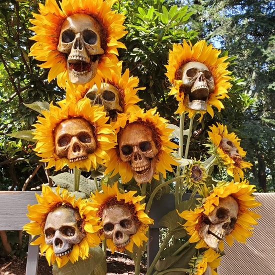 These DIY Sunflower Skulls Practically Scream Halloween