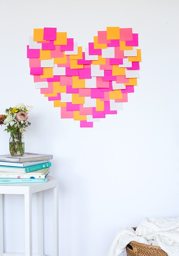 Use Post-its to create brightly colored art.