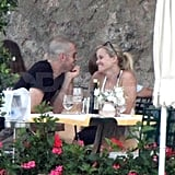 Reese and Jim shared a sweet Italian lunch during their Italian honeymoon in July.