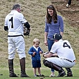 He made time to have a father-son chat with George at a Polo match in 2015.