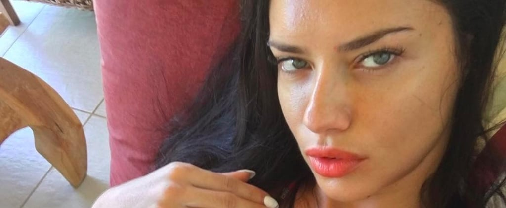 Grab a Fan and Take a Look Through Adriana Lima's Sexiest Selfies Yet