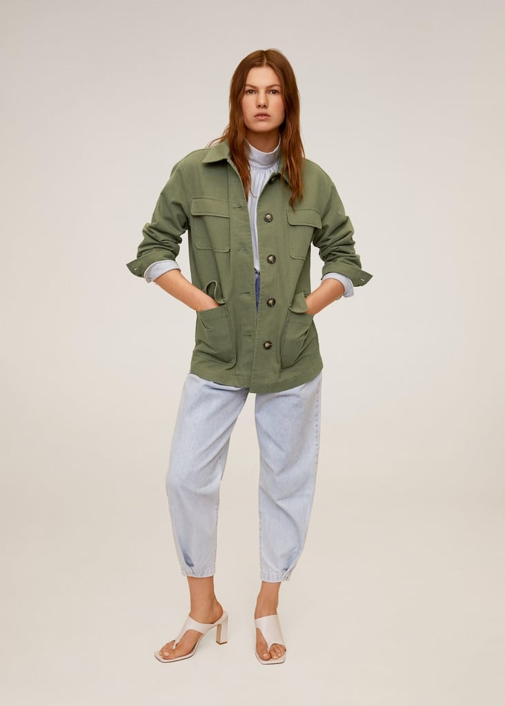 Mango Multi-Pocket Cotton Jacket