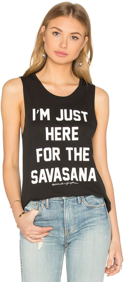 Spiritual Gangster Here For the Savasana Muscle Tank