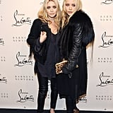 Mary-Kate Olsen and Ashley Olsen attended Christian Louboutin's party together in NYC.