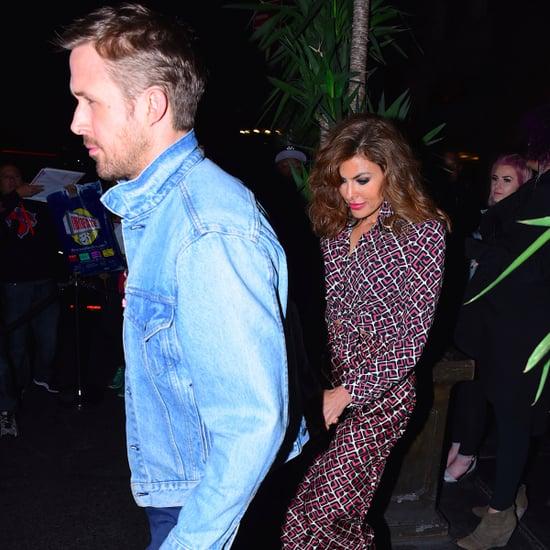 Ryan Gosling and Eva Mendes at SNL Party 2017