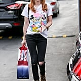 Emma Was Recently Spotted Wearing a Pair of Coach Leopard Booties