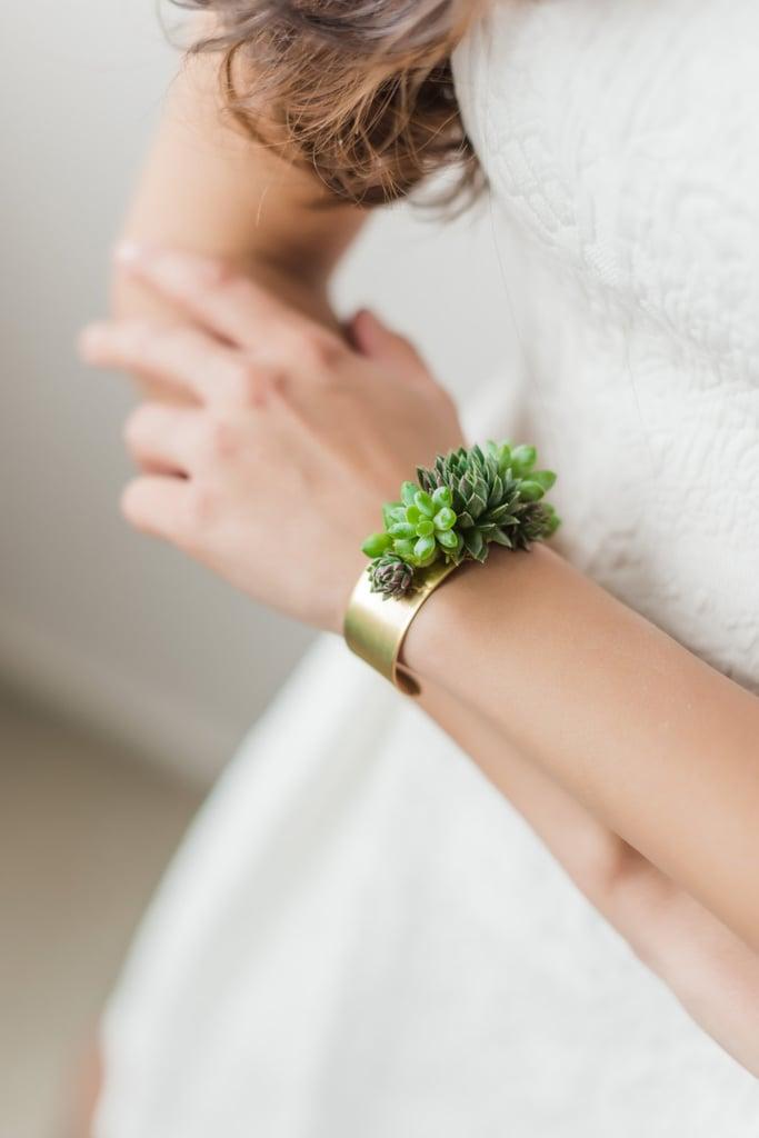 Succulent Cuff Bracelet ($40)