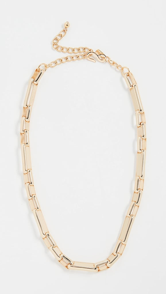 Kenneth Jay Lane Polished Gold Chain Link Necklace