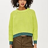 Topshop Lime Jumper