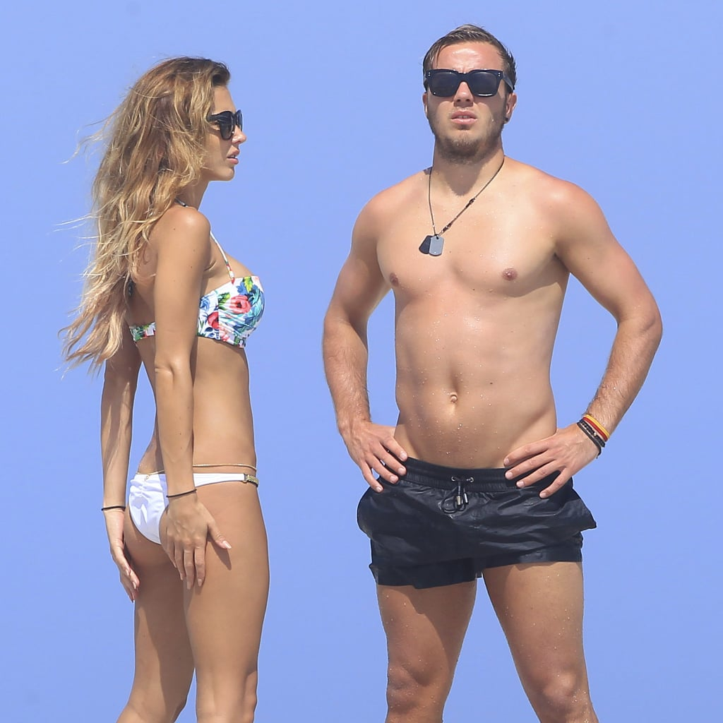 Mario Gotze and Ann Kathrin Brommel on the Beach in Ibiza