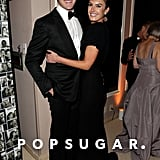 Armie Hammer and Elizabeth Chambers posed inside Vanity Fair's Oscar afterparty.