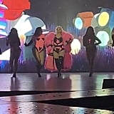 Demi Lovato at Christina Aguilera Vegas Concert Photos 2019