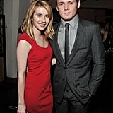 Emma Roberts was arm in arm with Anton Yelchin.