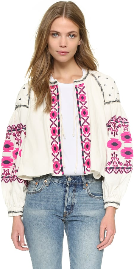 Free People Embroidered Swingy Jacket ($168)