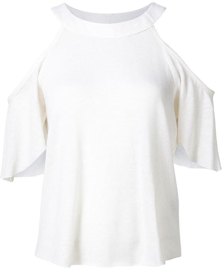 The Elder Statesman Cold Shoulder Top ($530)