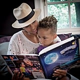 Alicia and Egypt had a mother-son reading date in November 2014.