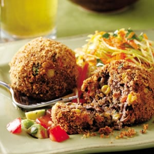 Monday's Leftovers: Black Bean Croquettes With Salsa