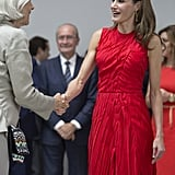 Queen Letizia Nina Ricci Dress July 2017