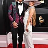 Alex Rodriguez and Jennifer Lopez at the Grammys