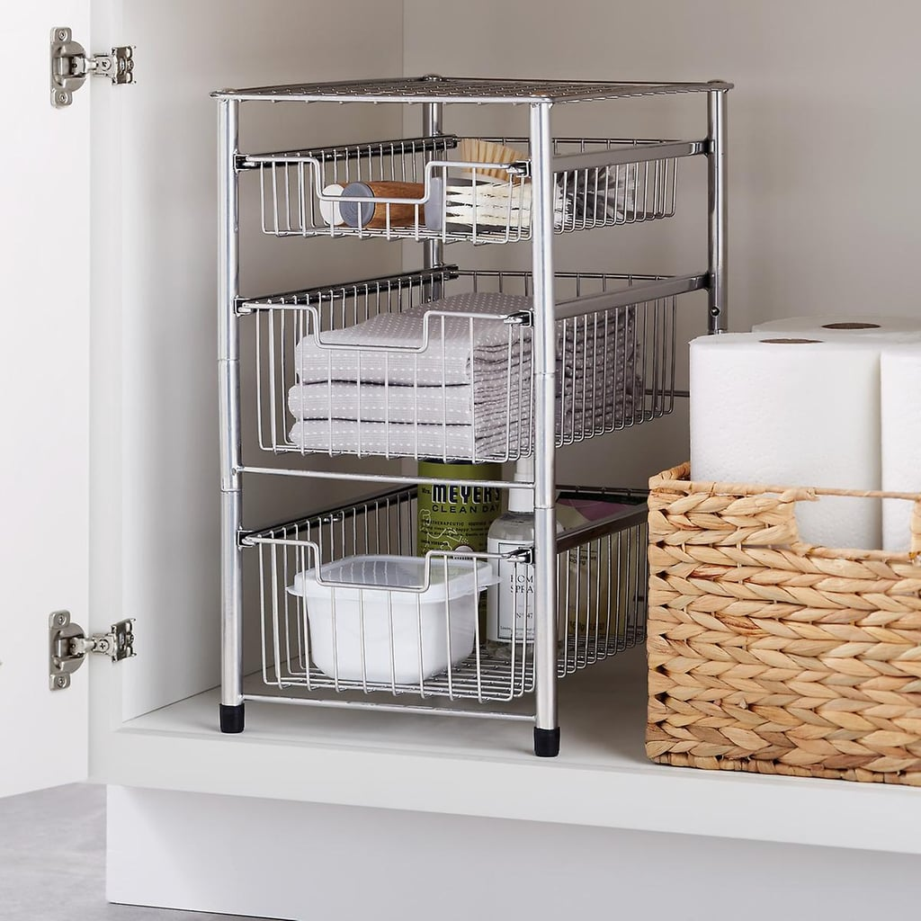 A Cabinet Caddy: The Container Store Wire Pull-Out Organizers