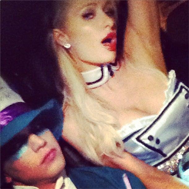 Paris Hilton and her boyfriend channeled Alice in Wonderland. Source: Instagram user riverviiperi