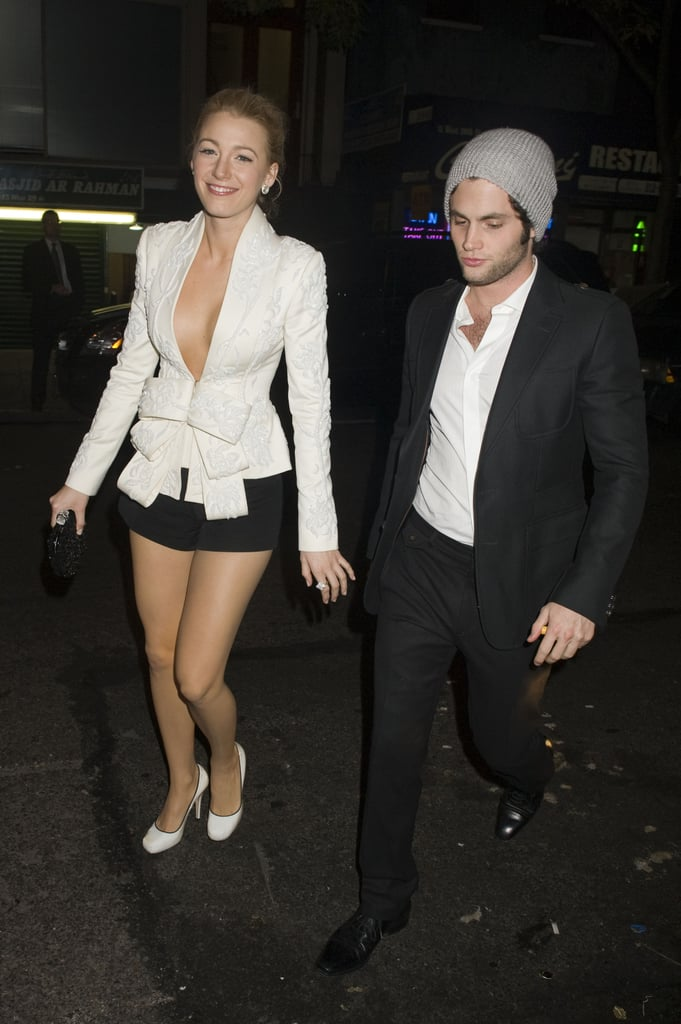 Blake Lively and Penn Badgley were spotted leaving a NYC event together in November 2009.
