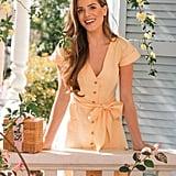 Gal Meets Glam Collection Vanessa Linen Blend Dress
