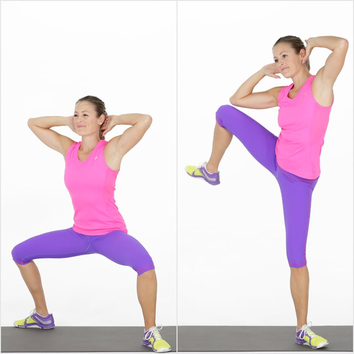 Circuit 1: Sumo Squat and Side Crunch