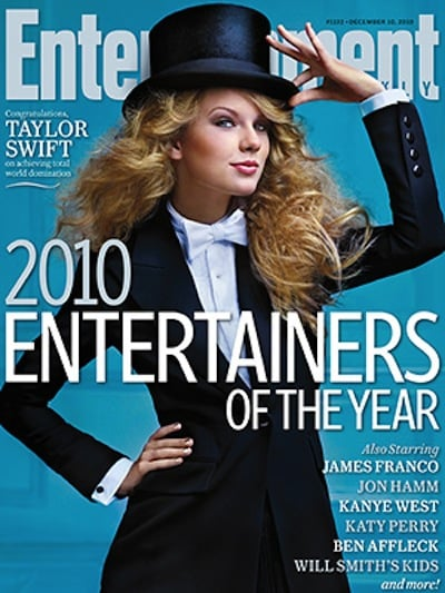 Taylor Swift covers EW-december 2010