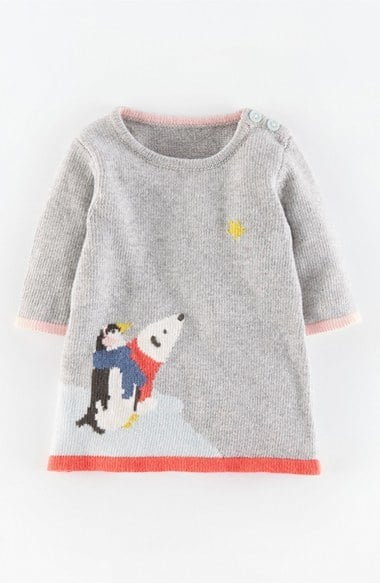 Mini Boden 'Winter Scene' Knit Dress