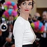 Paz Vega looked gorgeous in a black-and-white ensemble and red lipstick.