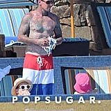 Pink's husband, Carey Hart, hung out with the kids while on vacation.