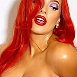 Ashley Graham's Jessica Rabbit Halloween Costume