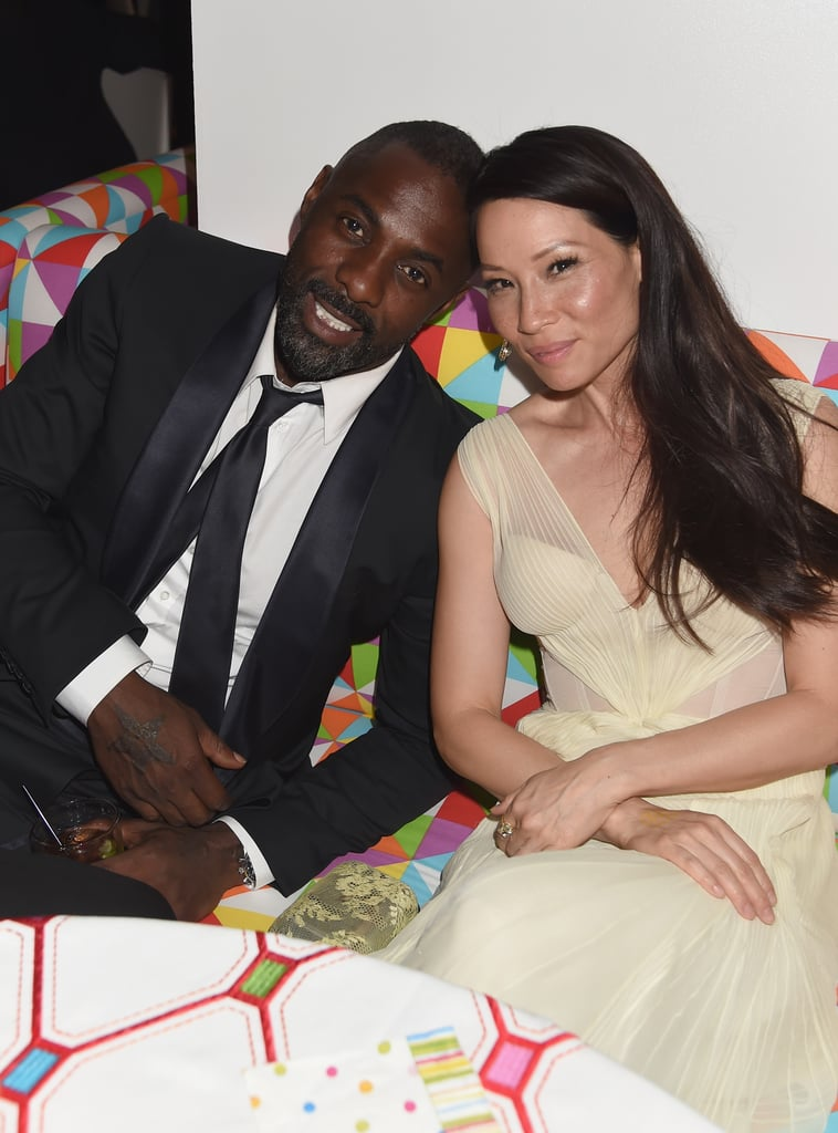 Idris Elba and Lucy Liu relaxed at the HBO party.