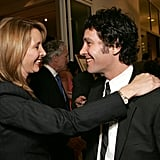Paul Rudd caught up with Friends castmate Lisa Kudrow in Oct. 2005.