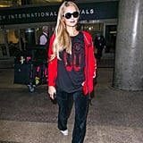 Just last year, Paris paired black velour pants with a red hoodie at Los Angeles International Airport on June 27, 2018.